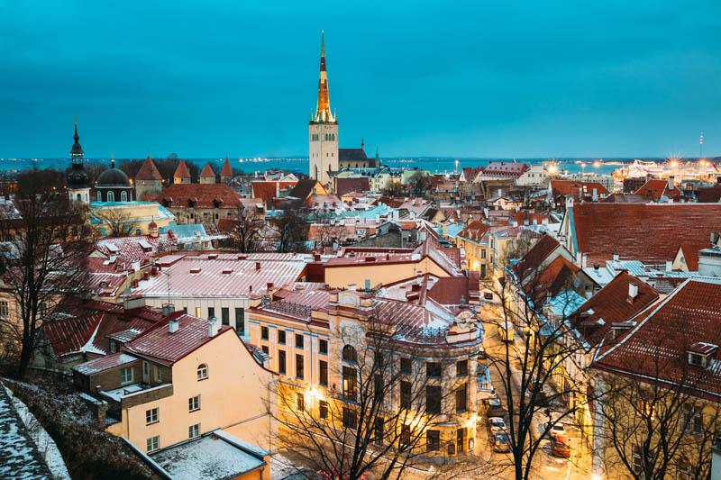 Panorama jednego z miast w Danii