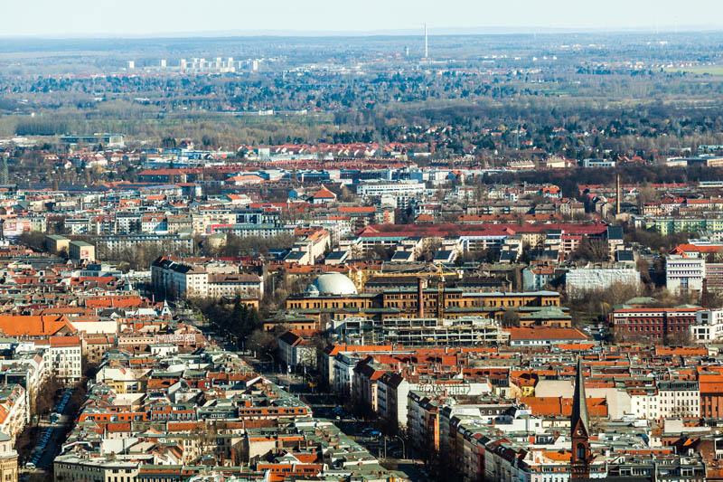 Obrazek przedstawiający panoramę miasta w Niemczech